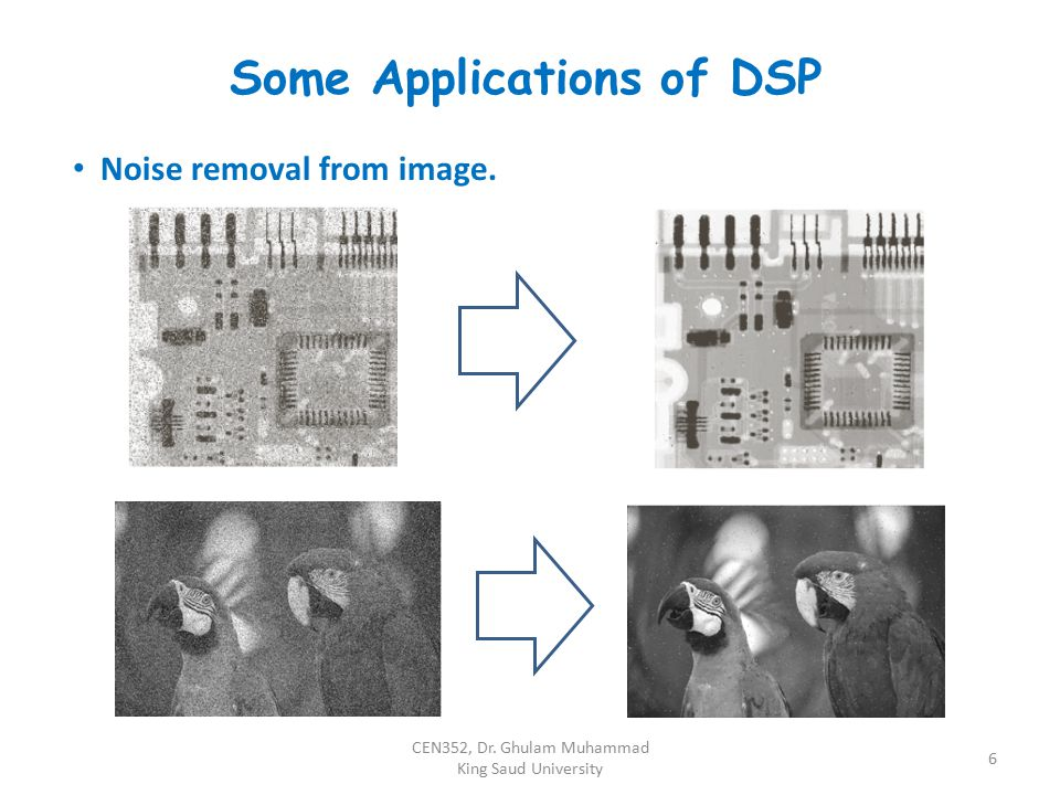 Some Applications of DSP