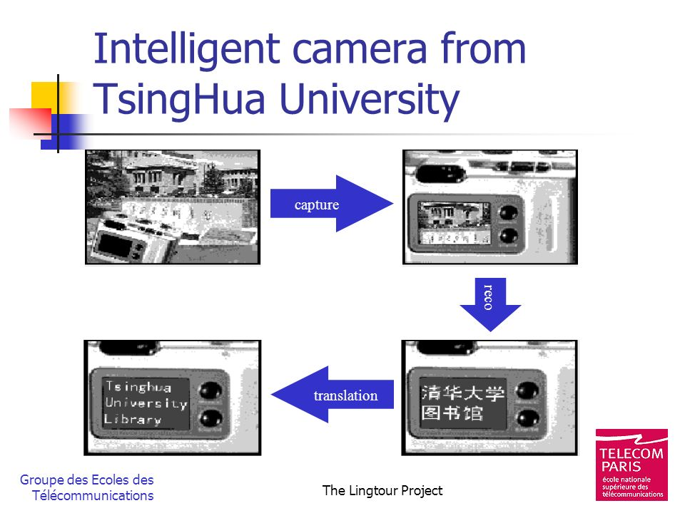 Intelligent camera from TsingHua University