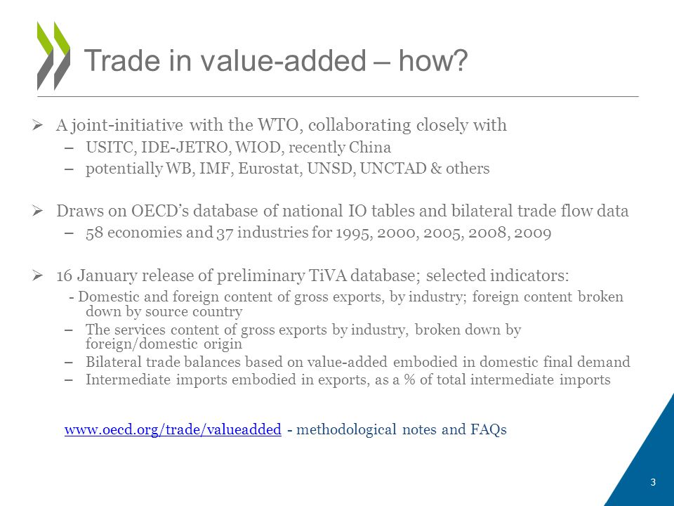 Preliminary Implications From Trade In Value Added Estimates