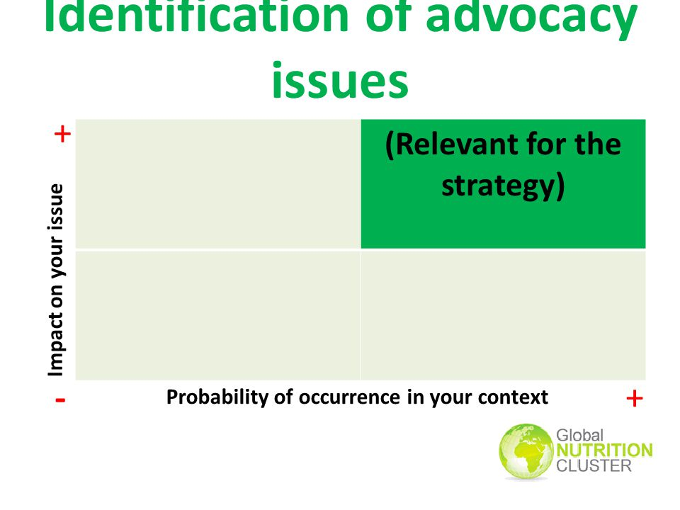 Identification of advocacy issues