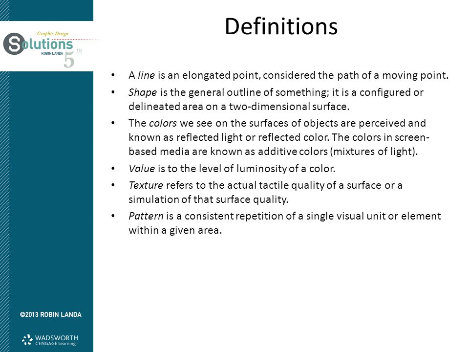 Definitions A Line Is An Elongated Point Considered The Path Of Moving 4 Formal Elements Design