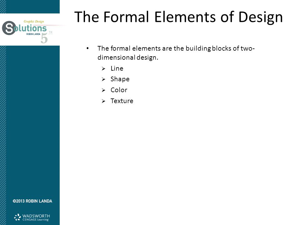 The Formal Elements Of Design