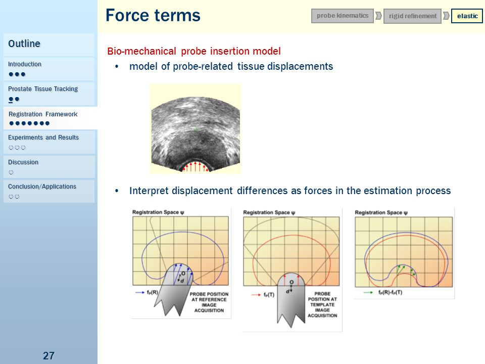 Force terms Outline Bio-mechanical probe insertion model