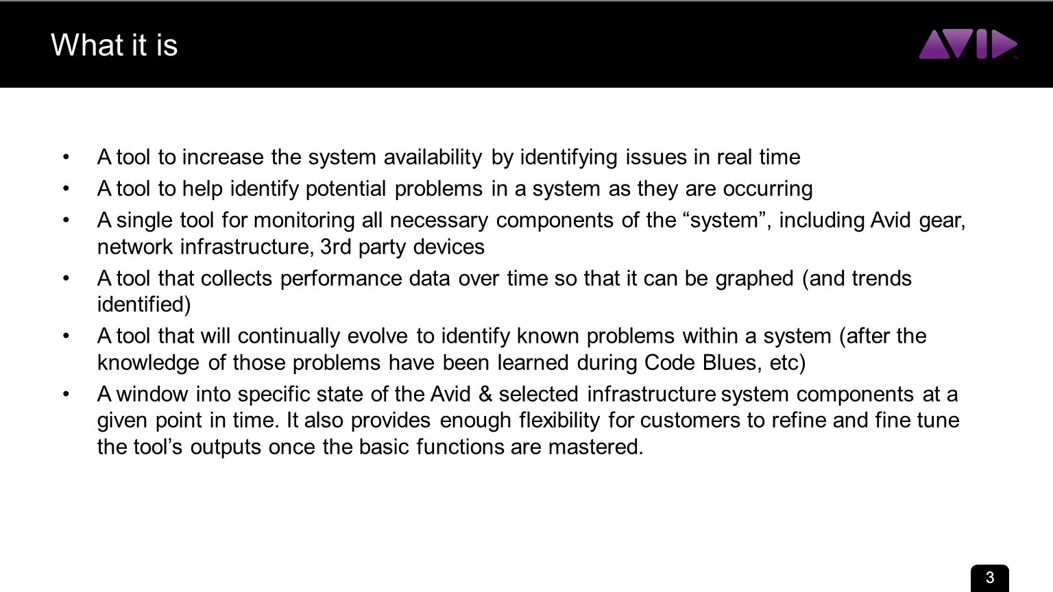 Avid System Monitor Ed Harper November ppt download
