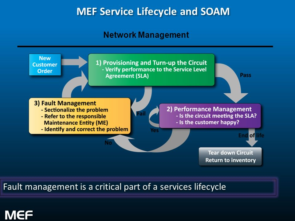 MEF Service Lifecycle and SOAM