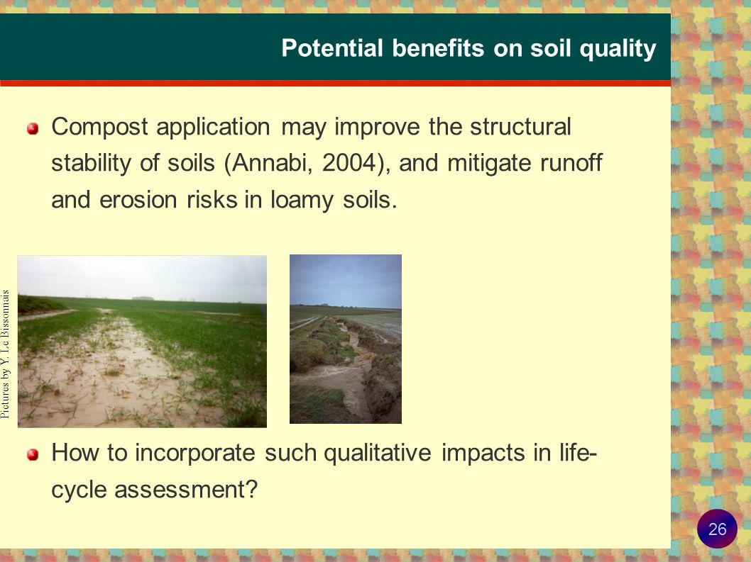 Potential benefits on soil quality