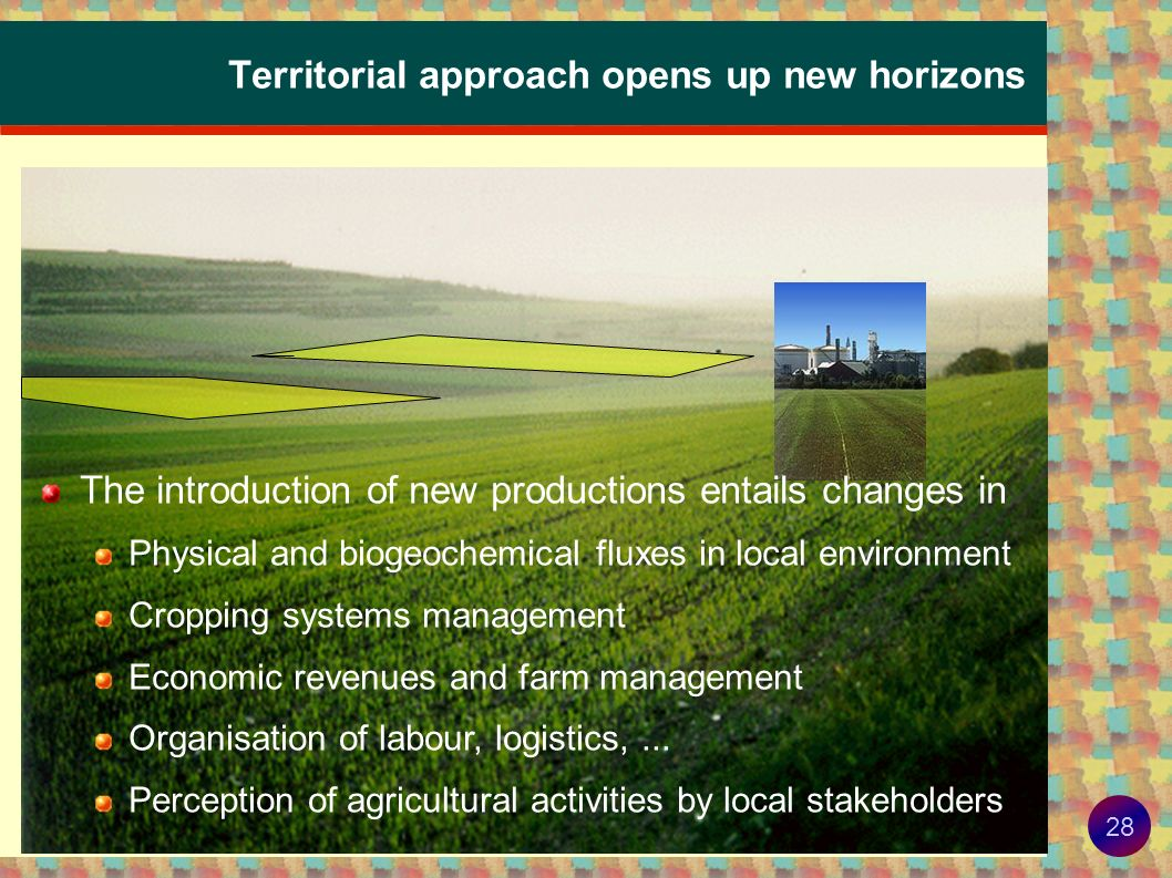 Territorial approach opens up new horizons