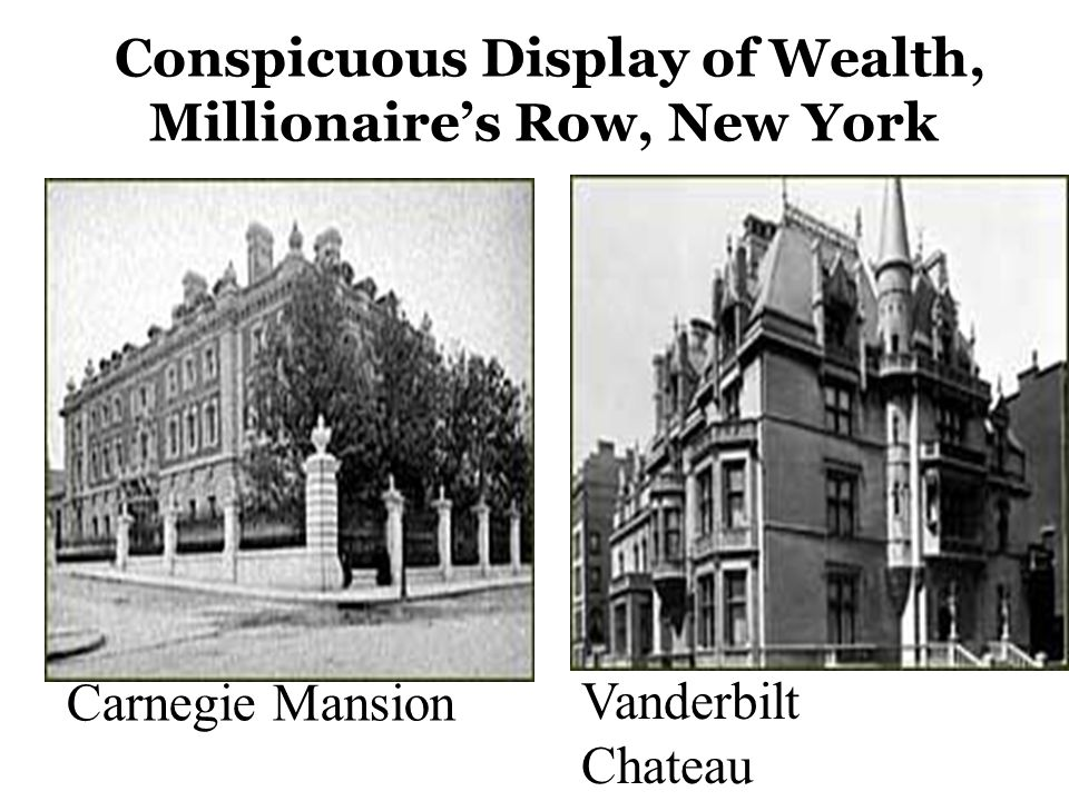 Conspicuous Display of Wealth, Millionaire's Row, New York