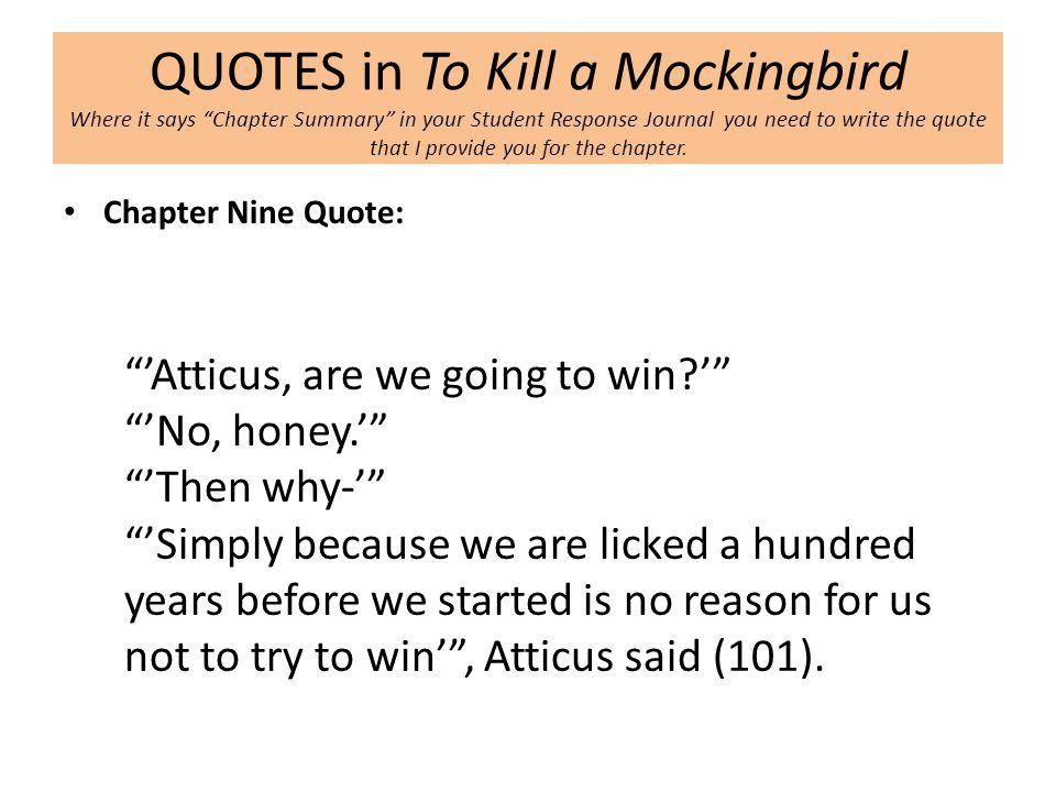 to kill a mockingbird chapter summary pdf