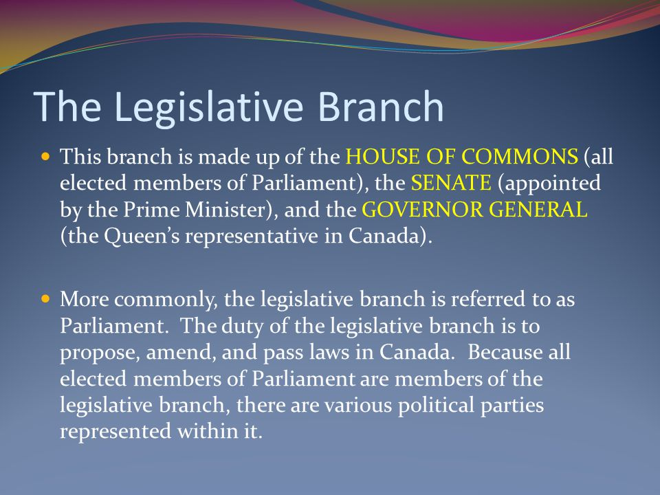 The Structure of Canada's Federal Political System - ppt