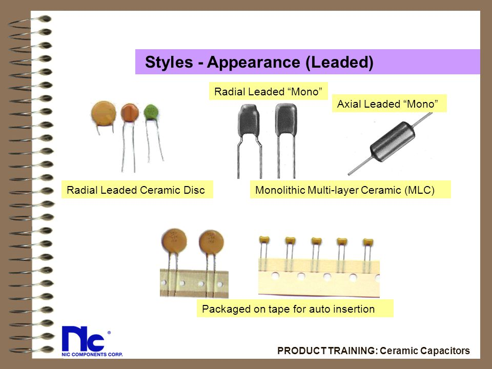 Ceramic Capacitors NIC PRODUCT TRAINING  - ppt download
