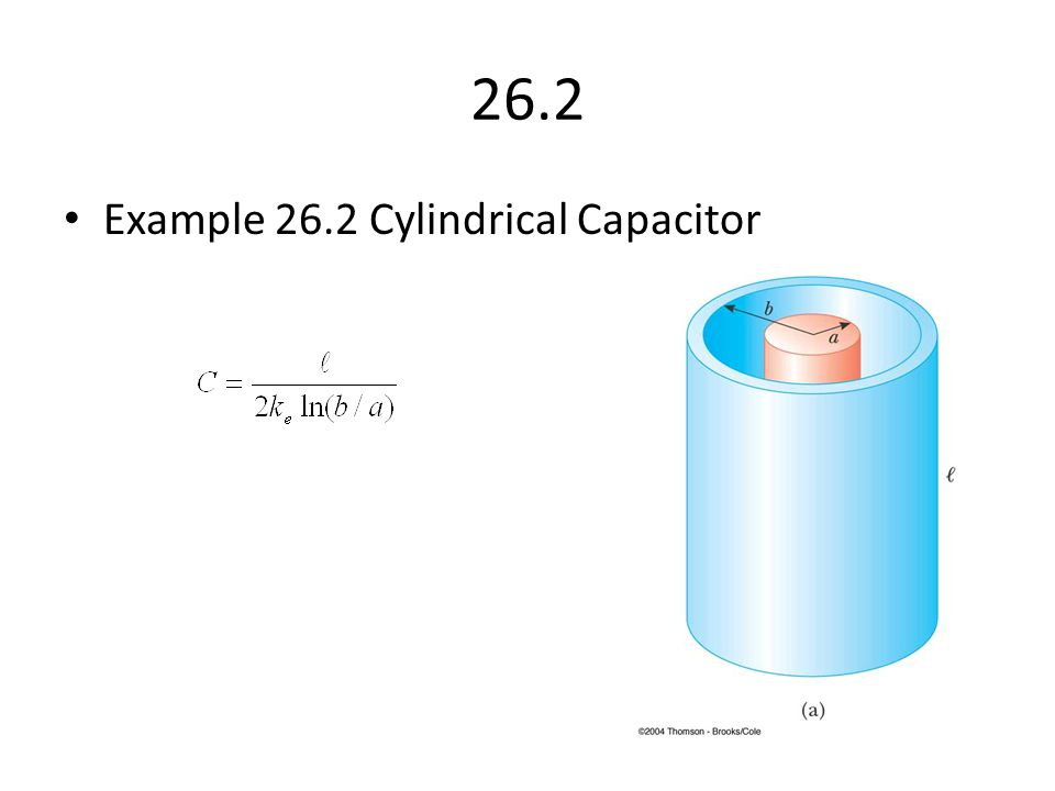 26.2 Example 26.2 Cylindrical Capacitor