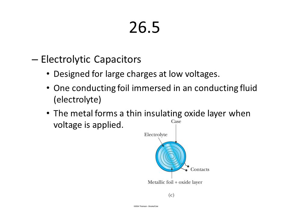26.5 Electrolytic Capacitors