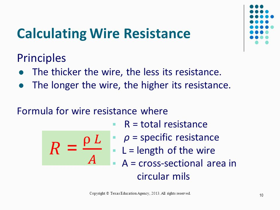 Conductors and insulators ppt video online download calculating wire resistance greentooth Gallery