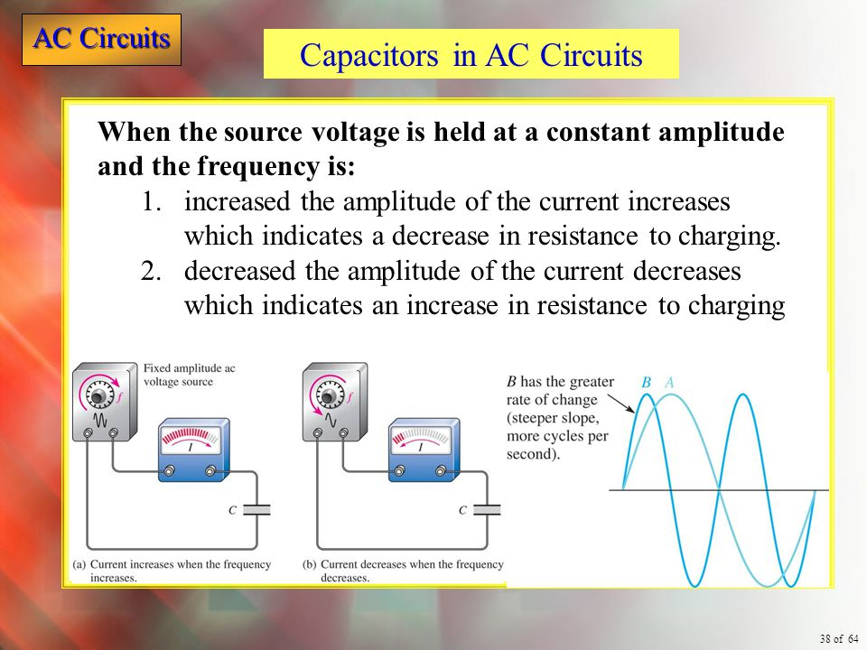 Capacitors in AC Circuits