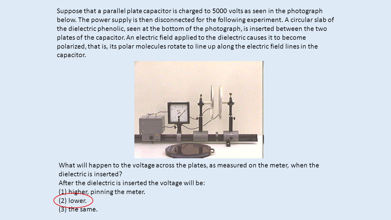 Suppose That A Parallel Plate Capacitor Is Charged To 5000 Volts As Capacitance And Charge On Capacitors Plates Seen In The Photograph