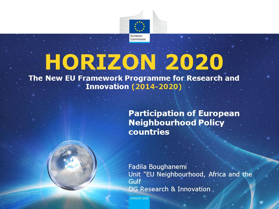 HORIZON 2020 The New EU Framework Programme for Research and Innovation ( )