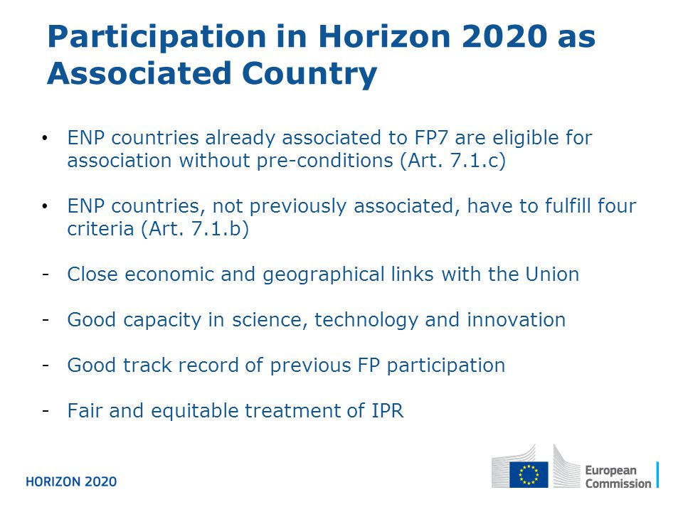 Participation in Horizon 2020 as Associated Country