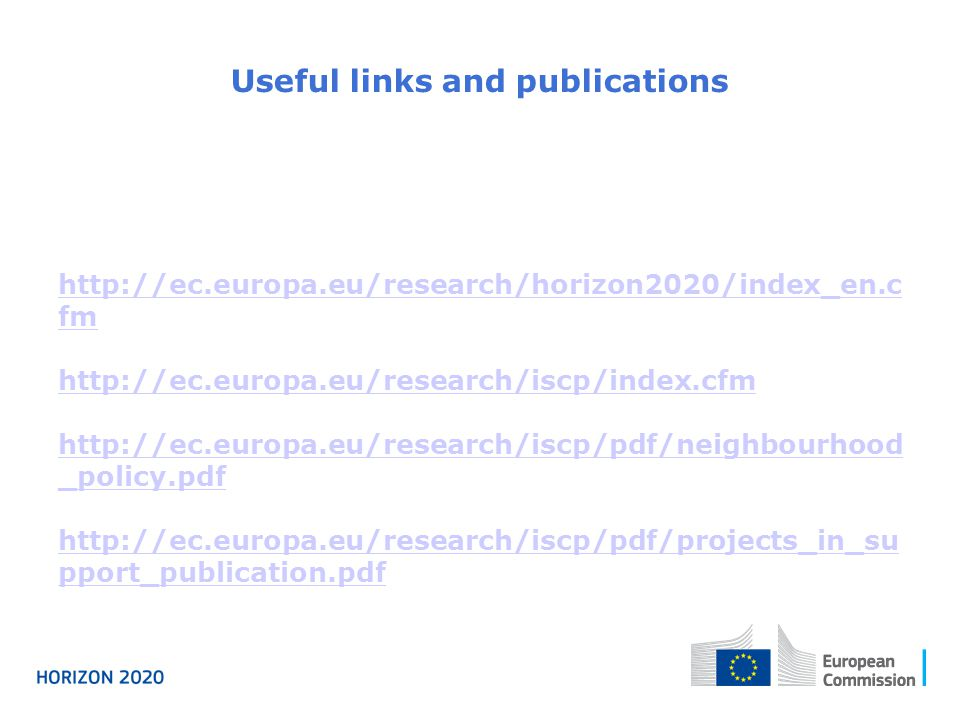 Useful links and publications