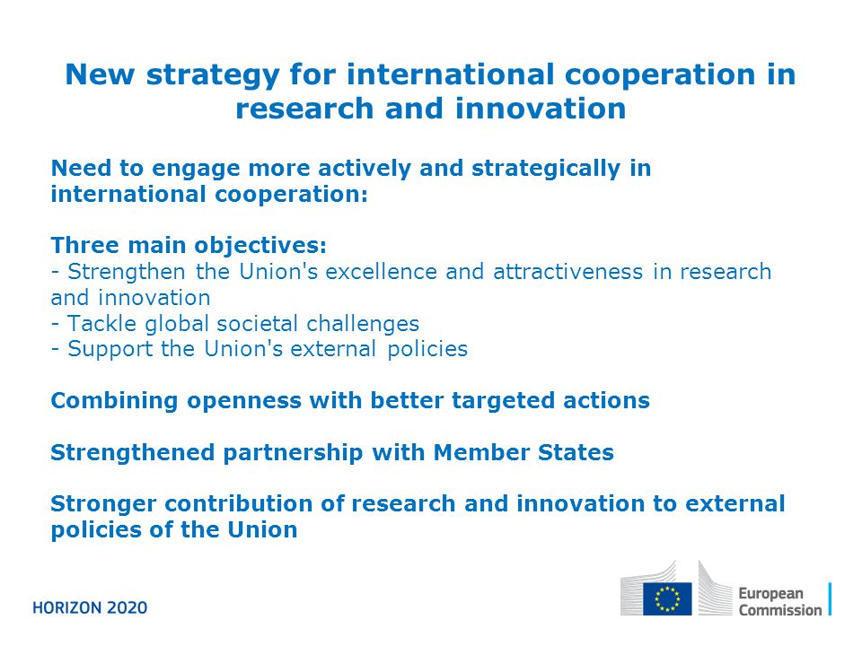 New strategy for international cooperation in research and innovation