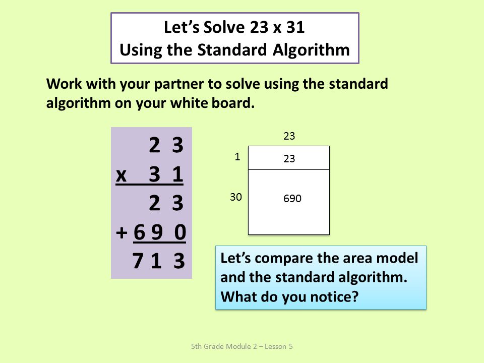 Using the Standard Algorithm