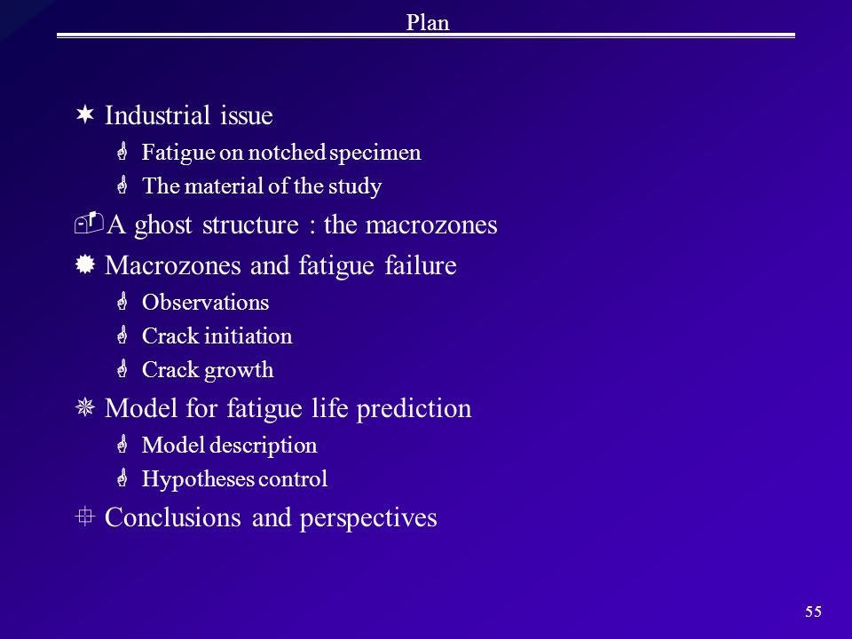 A ghost structure : the macrozones Macrozones and fatigue failure