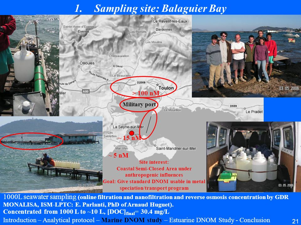 Sampling site: Balaguier Bay