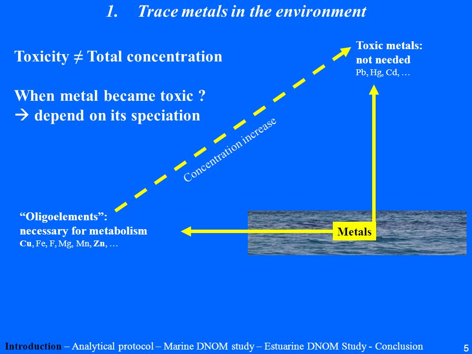 Trace metals in the environment