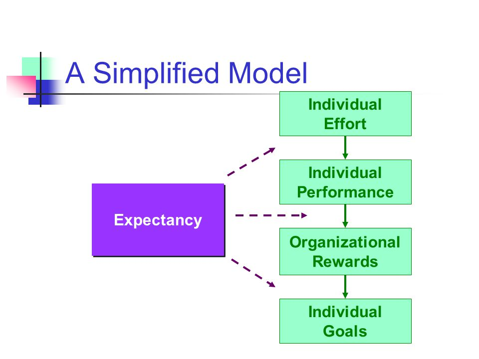 A Simplified Model Individual Effort Individual Performance Expectancy
