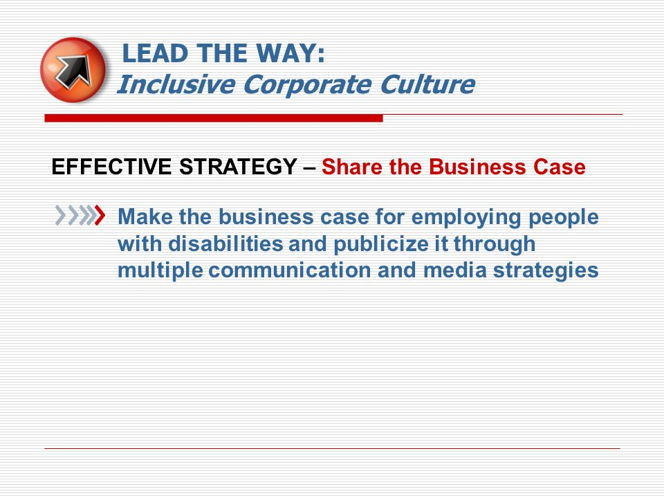 LEAD THE WAY: Inclusive Corporate Culture