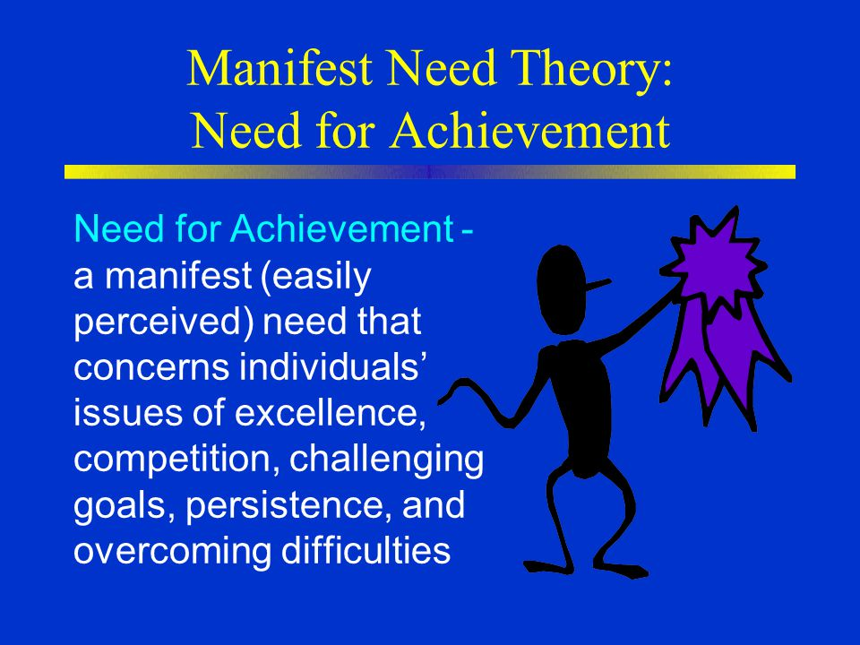 Manifest Need Theory: Need for Achievement