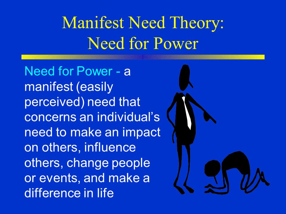 Manifest Need Theory: Need for Power