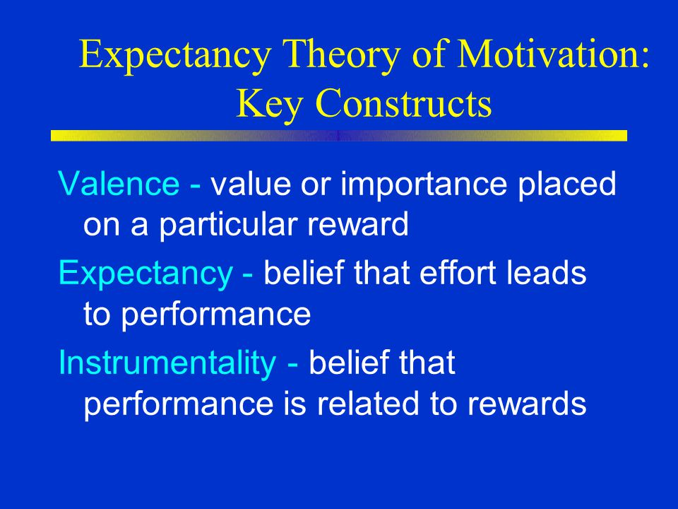 Expectancy Theory of Motivation: Key Constructs