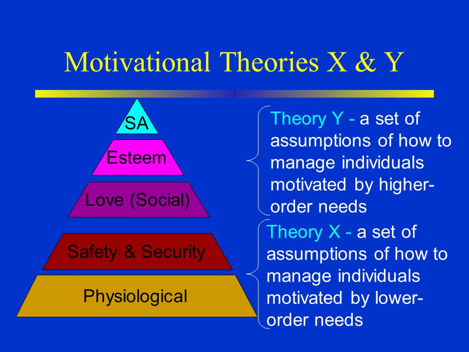 Motivational Theories X & Y