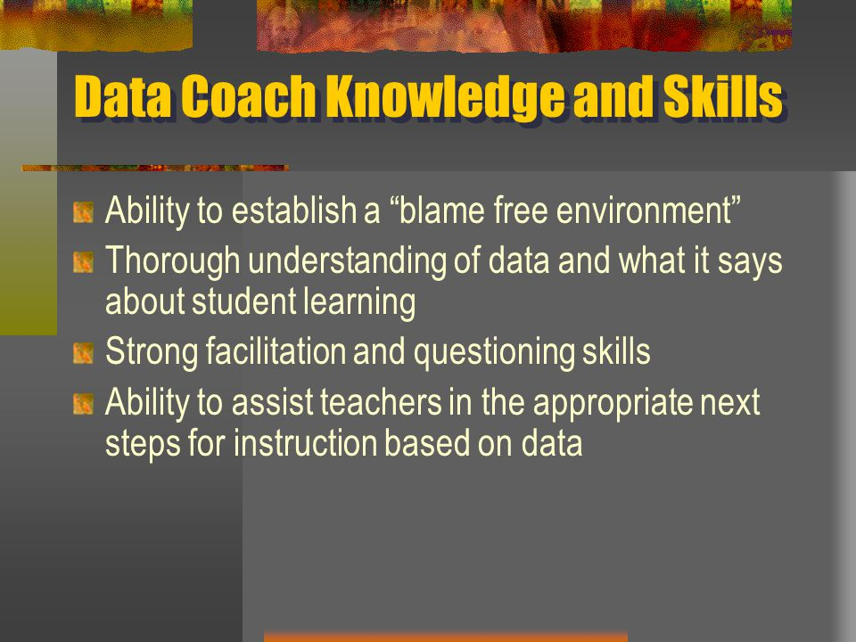 Data Coach Knowledge and Skills