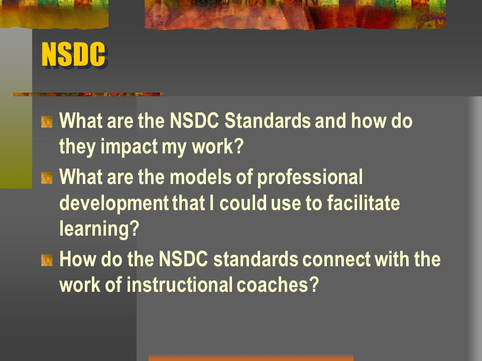 NSDC What are the NSDC Standards and how do they impact my work