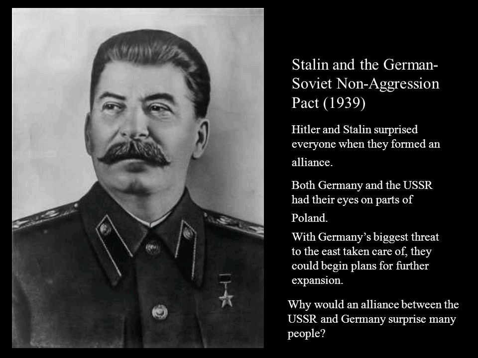 Stalin and the German-Soviet Non-Aggression Pact (1939)