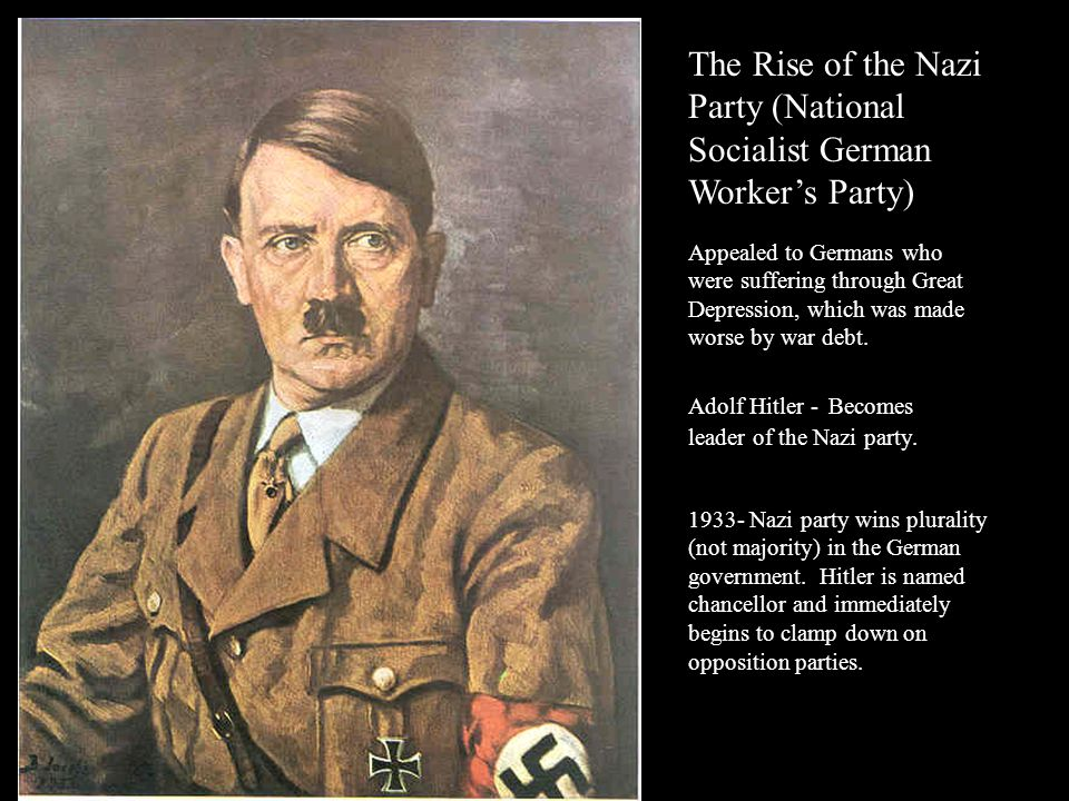 The Rise of the Nazi Party (National Socialist German Worker's Party)