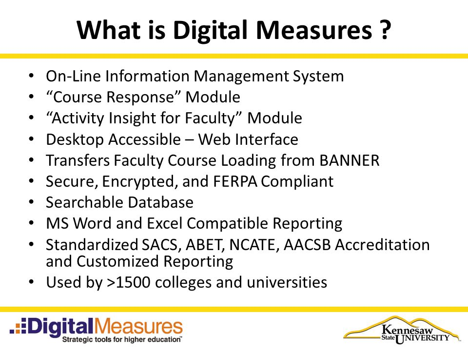 Overview of Digital Measures - ppt download