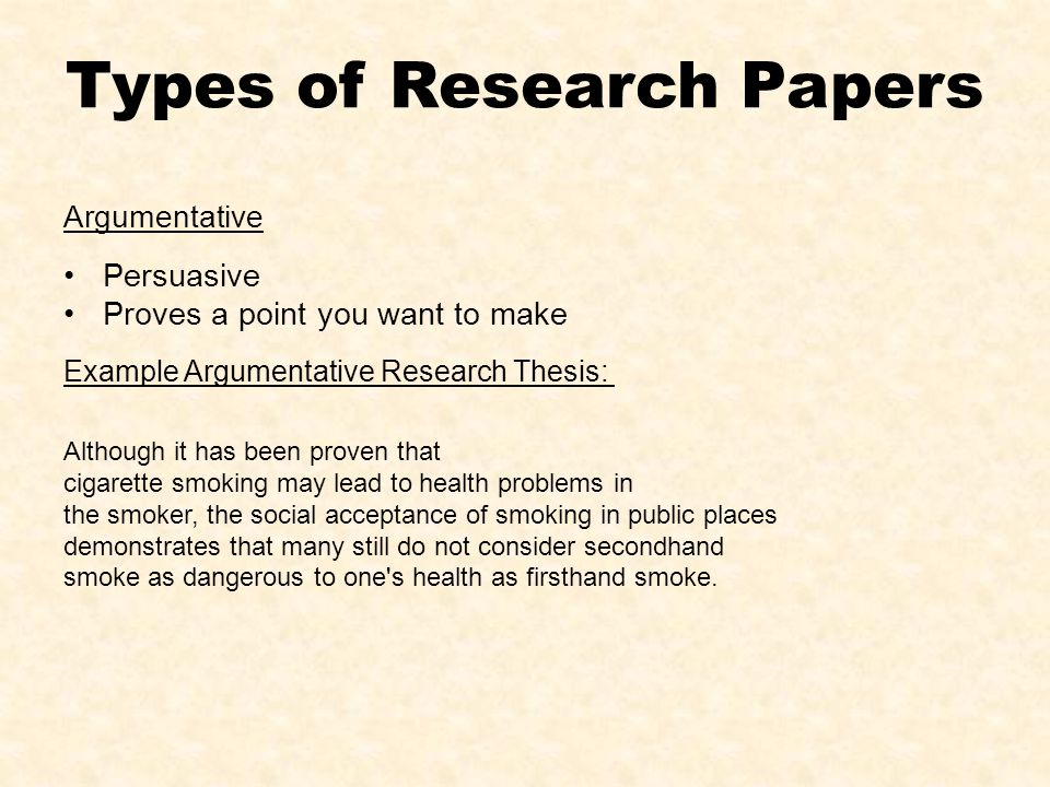 Analytical research paper often begins with