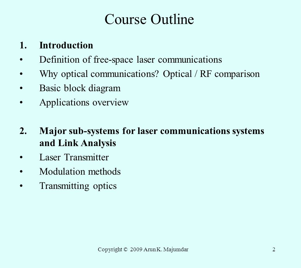 Laser Communication Receiver Circuit Schematic Design Dr Arun K Majumdar 105 W Mojave Rose Ave Ppt Video Online Download