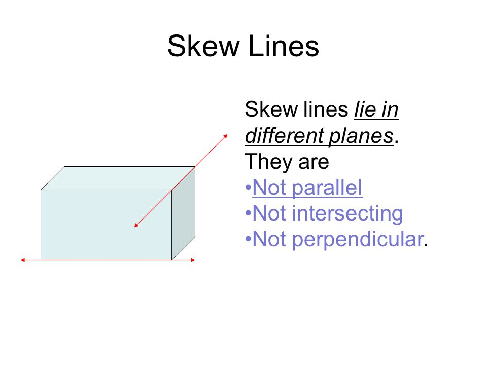 Skew Parallel And Perpendicular Lines Ppt Download