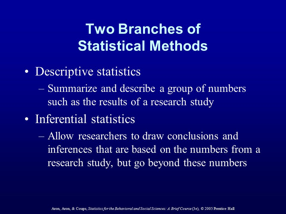 Two Branches of Statistical Methods