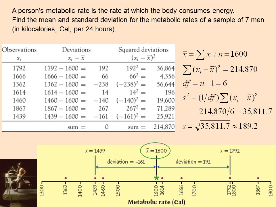 A person's metabolic rate is the rate at which the body consumes energy.