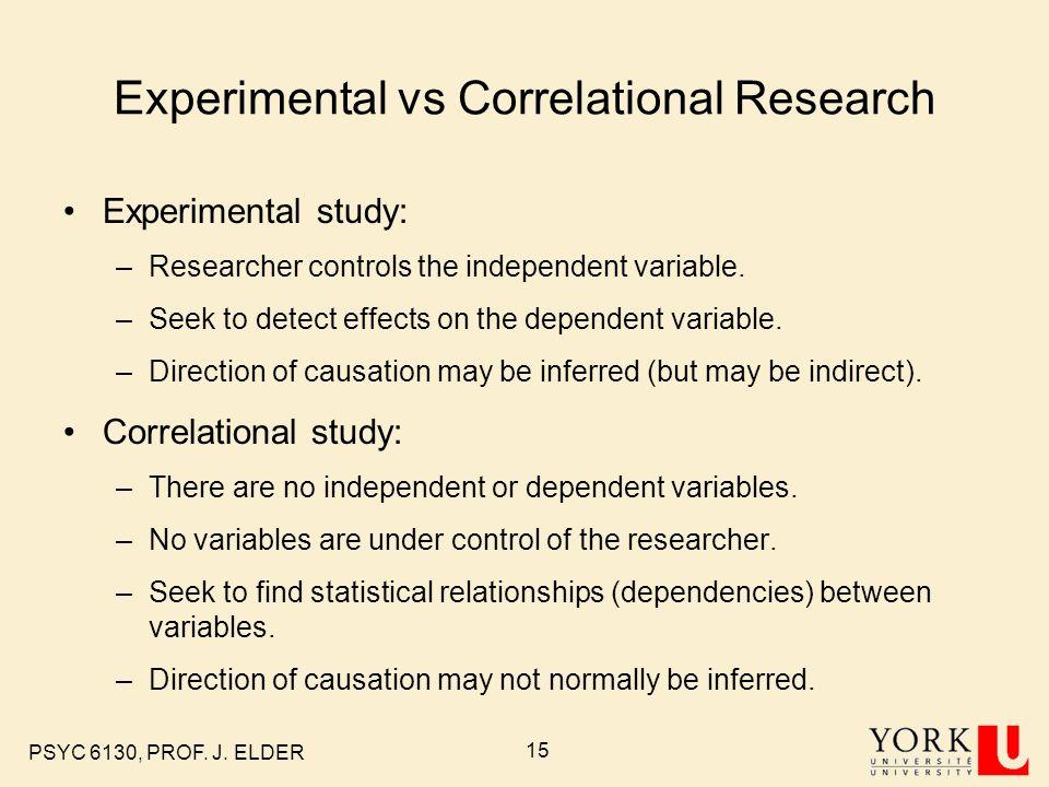 correlational study vs experiment