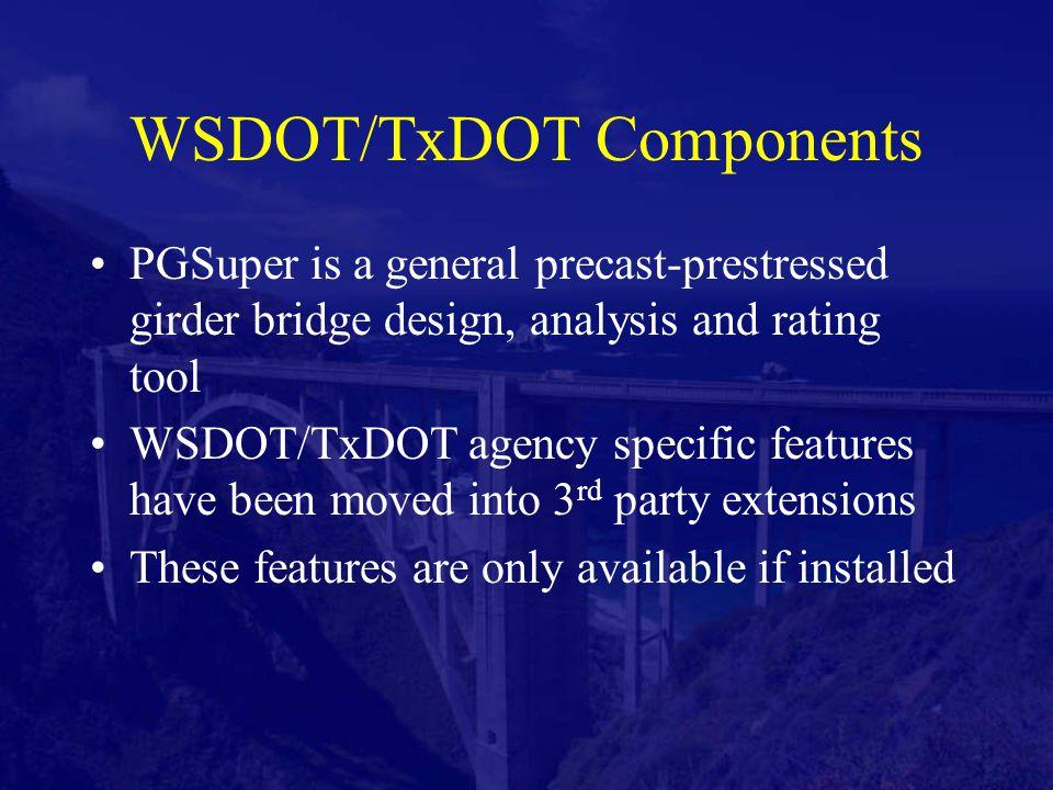 PGSuper2AASHTOWare Bridge Data Translator - ppt video online