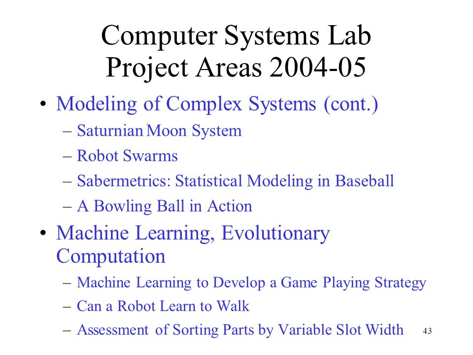 Computer Systems Lab TJHSST - ppt download