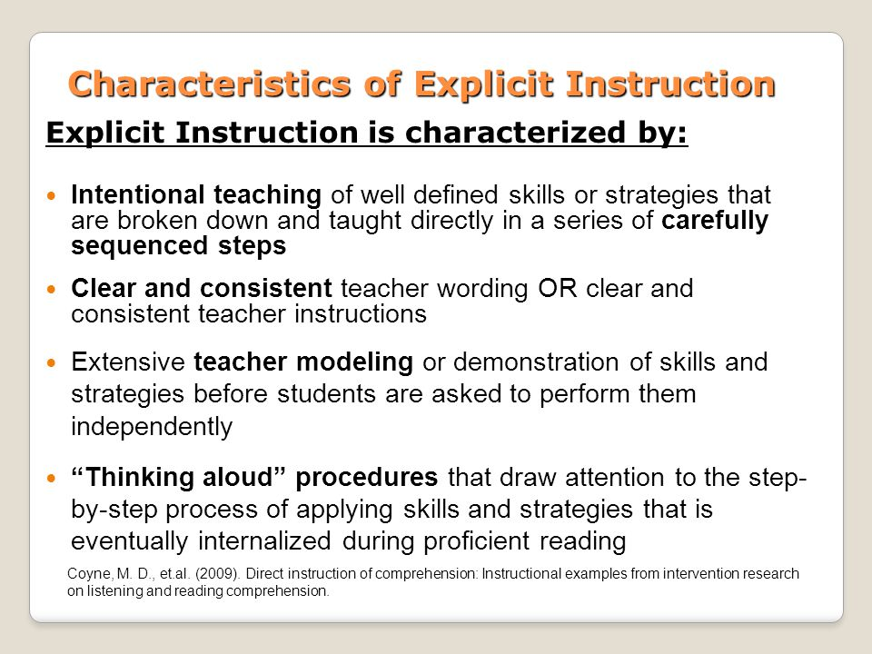 Implicit & explicit learning, knowledge and instruction.