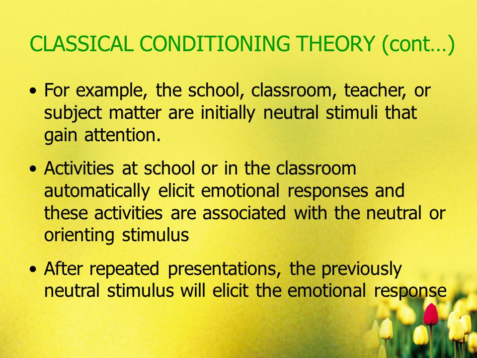 ivan pavlov theory in the classroom