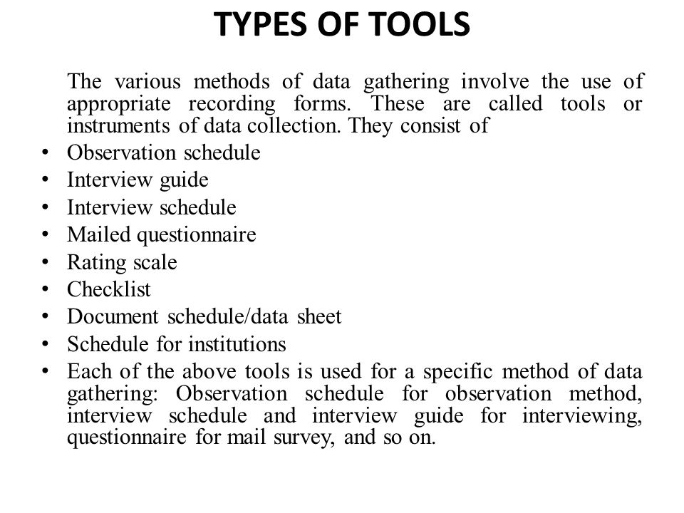 types of interviews for data collection